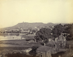[View looking towards Banu Begum's tomb], Nr. Aurangabad.